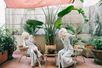 Staged self-portraits by Anja Niemi