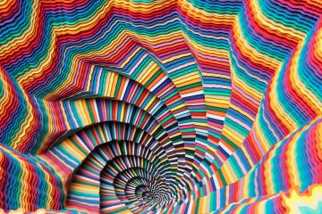 Intricate patterns by Jen Stark