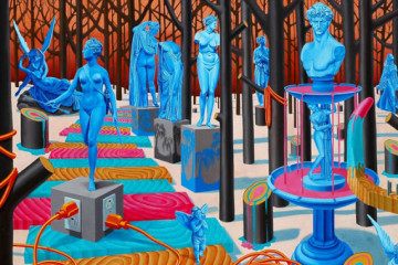 Vivid synthetic painting by Jaime Brett Treadwell