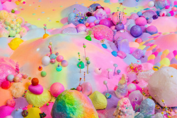Vibrant and sweet installations by Pip & Pop