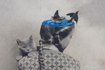 Surreal vintage collages by Julia Geiser