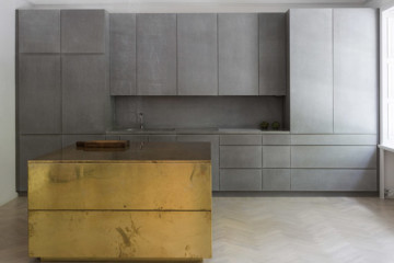 Gold & Gray apartment by Richard Lindvall