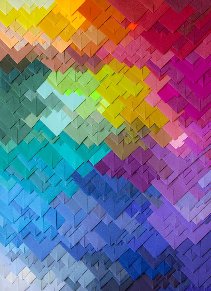 maud vantours multicolored paper works the photophore