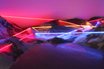 Neon installations by Laddie John Dill