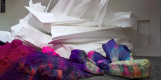Katharina Grosse: explosions of colours