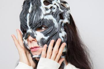Björk's Rottlace mask by Neri Oxman
