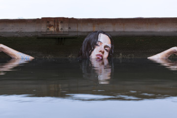 Water murals by Sean Yoro