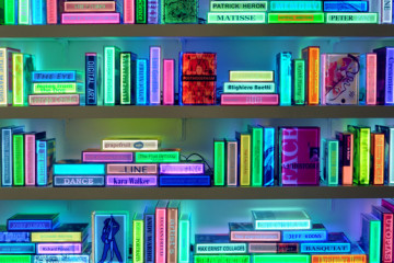 Luminous books by Airan Kang