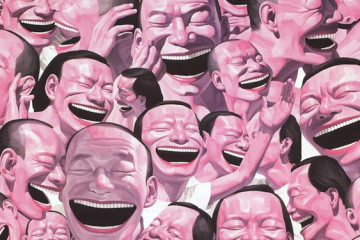 Yue Minjun's laughter