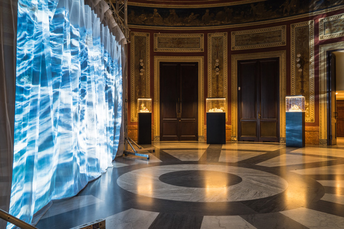 "Installation view of ""MARE MEDITERRANEUM"" at Teatro Massimo, Palermo. ©AES+F"