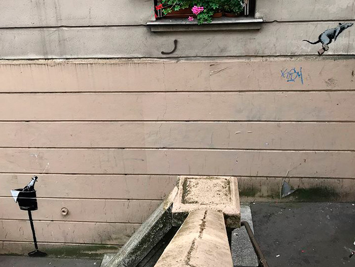 BANKSY, Graffiti in Paris (France), June 2018