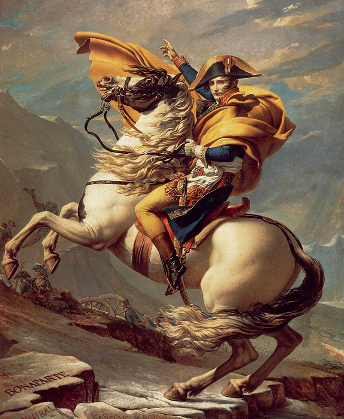 Jacques-Louis David, Napoleon Crossing the Alps, 1801-1805