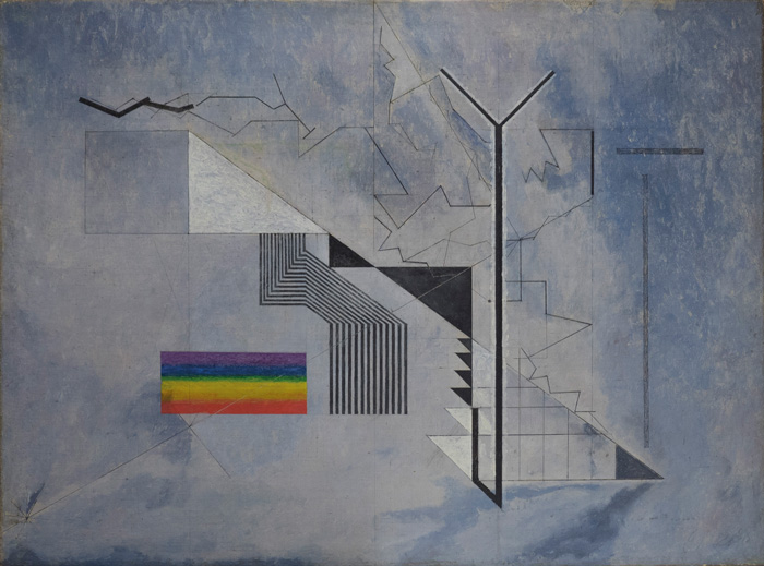 Osvaldo Licini, Castello in aria / Castle in the Air, 1933-1936