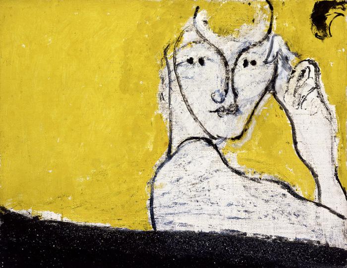 Osvaldo Licini, L'uomo di neve / The Snowman, 1952