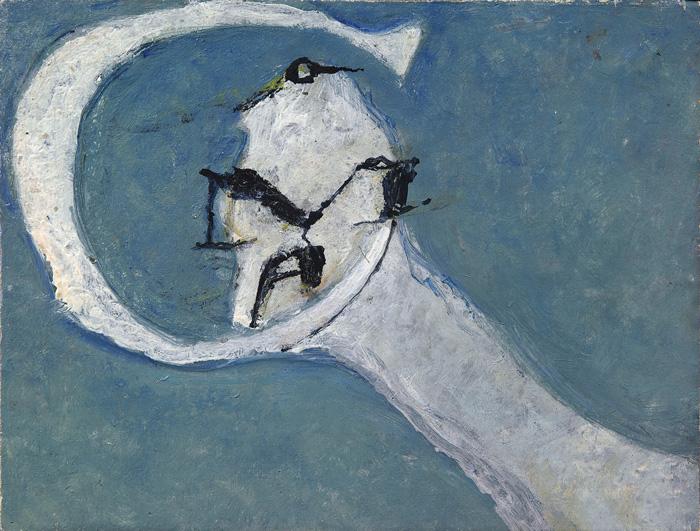 Osvaldo Licini, Olandese volante azzurra / Flying Dutchman Blue, 1944