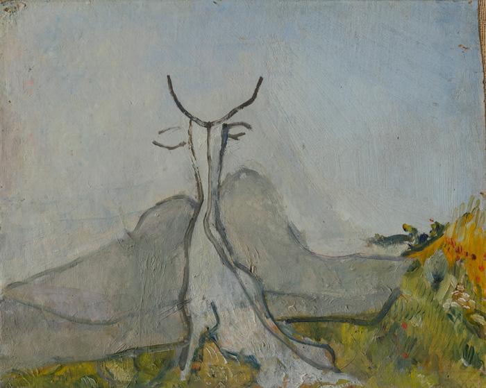 Osvaldo Licini, Paesaggio fantastico (Il capro) / Imaginary Landscape(Billy Goat), 1927