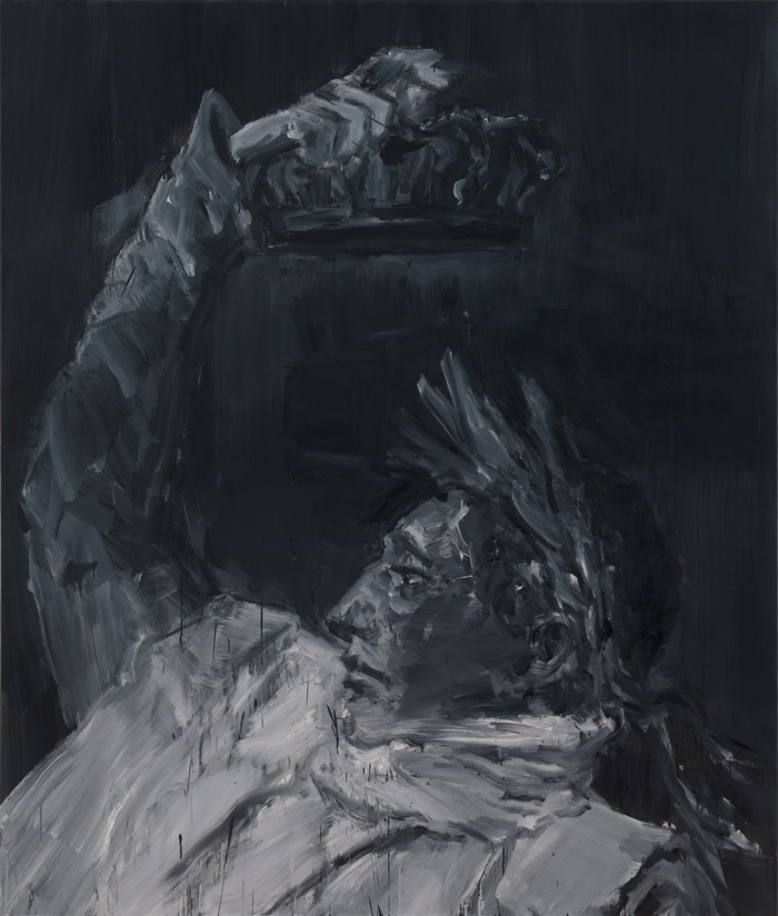 Yan Pei-Ming, Napoleon, Crowing Himself Emperor - Black, 2017