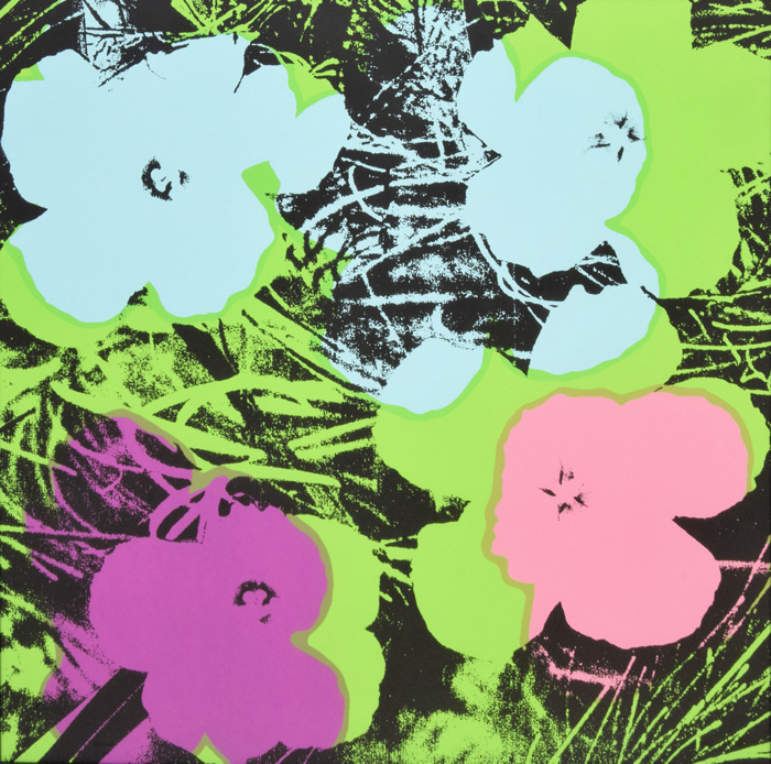 "Andy Warhol ""Flowers"" 1970, screenprint on paper, 91,4 x 91,4 cm, Ed. of 250, signed and numbered, Gallery Haas & Gschwandtner, Salzburg-AT"