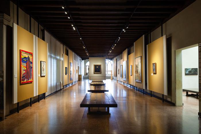 Dialoghi Contemporanei con Tintoretto [Contemporary Dialogues with Tintoretto], exhibition view at Galleria Giorgio Franchetti alla Ca' D'Oro Image Courtesy: Zuecca Projects. Photo: Marco Dabbicco