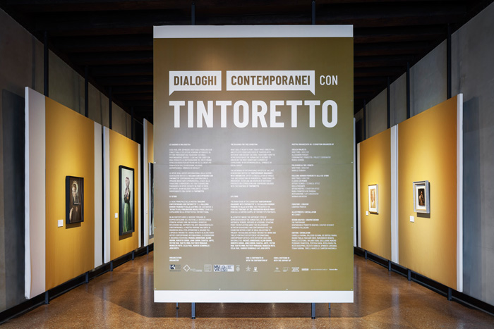 Dialoghi Contemporanei con Tintoretto [Contemporary Dialogues with Tintoretto], exhibition view at Galleria Giorgio Franchetti alla Ca' D'Oro Image Courtesy: Zuecca Projects. Photo: Marco Dabbicco