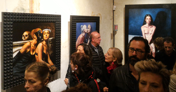 "View of the exhibition ""Ieratico/Eretico"" [Hieratic/Heretical] by Saturno Buttò. Photo by the PhotoPhore"