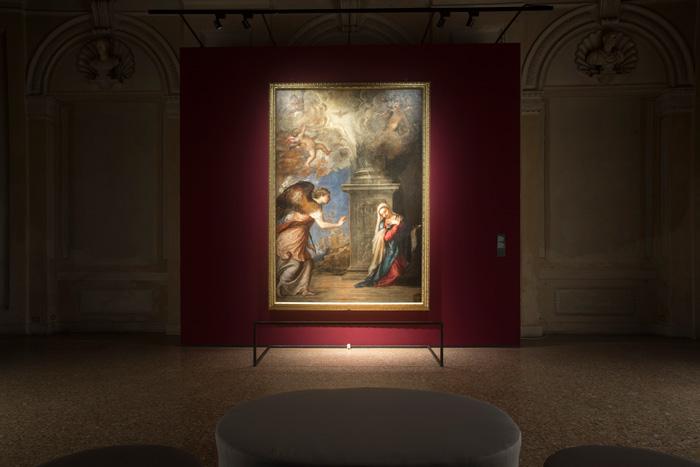 Tiziano/Gerhard Richter. Il Cielo sulla Terra, Palazzo Te, Mantova, installation view, Exhibition Design Lissoni Associati - Piero Lissoni, ph Gian Maria Pontiroli