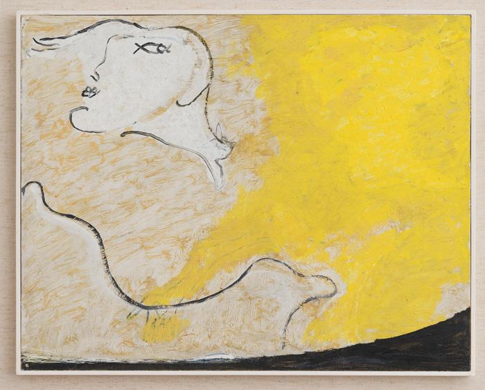 Osvaldo Licini, Amalassunta, 1951. Oil on canvas, 36.5x48.5 cm - Courtesy of Arte Fiera 2019 Bologna