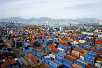Thomas Struth, Hanjin Gamman, Port Busan, 2007, [detail]. Chromogenic Print, 172x241x6 cm framed - Courtesy of Arte Fiera 2019 Bologna