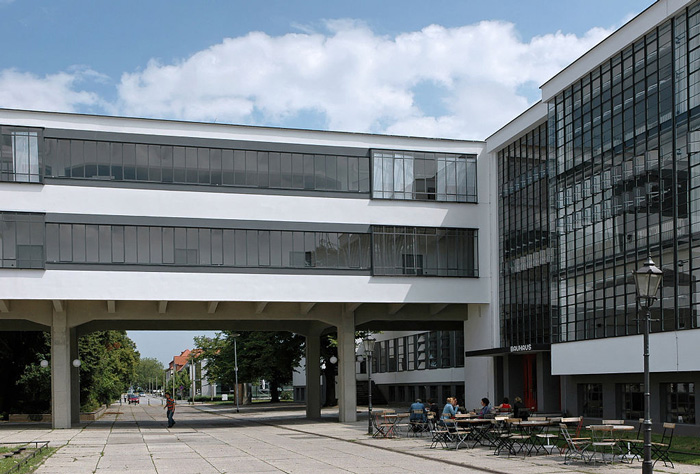 Walter Gropius, the building of the Bauhaus, Dessau, Germany (1925-1926). Creative Commons Copywright through Wikipedia