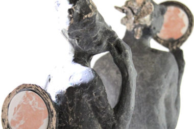 Belgin Yücelen, Humor and Impudence, Bronze and Stainless Steel, 11x4x6 in [detalail]. Courtesy of the artist.