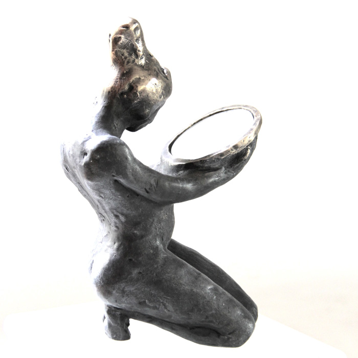 Belgin Yücelen, Who am I?, Bronze, 11x6x6 in. Courtesy of the artist.