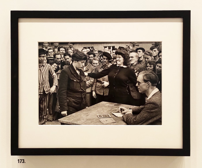 """Henri Cartier-Bresson. LeGrand Jeau - Palazzo Grassi, Venice - The artwork is: """"173. Dessau, Allemagne, May-June 1945"""" by Henri Cartier-Bresson - Photo by the PhotoPhore"""