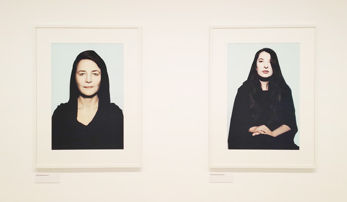 "Youssef Nabil. Once upon a dream - Palazzo Grassi, Venice - The artworks are, from the right: ""Charlotte Rampling, Paris, 2011"" and ""Marina Abramovic, New York, 2011"" by Youssef Nabil - Photo by the PhotoPhore"