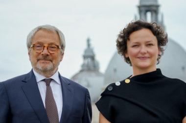 Roberto Cicutto and Cecilia Alemani | Photo by Andrea Avezzù | Courtesy La Biennale di Venezia